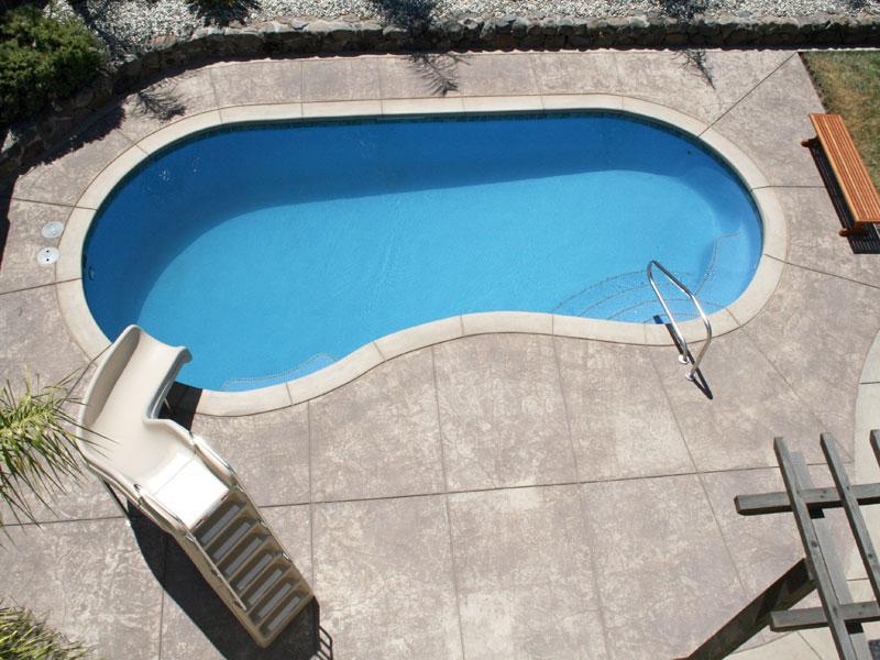 Heritage Custom Pools Blue Hawaiian Fiberglass Pools