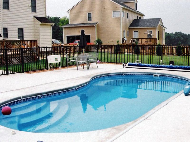 Heritage Custom Pools Blue Hawaiian Fiberglass Pools Kidney Shaped