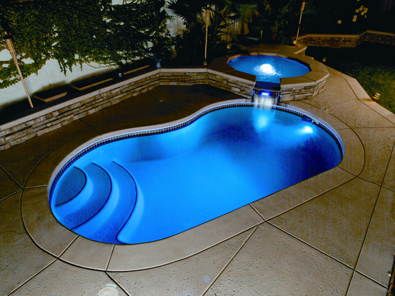 Heritage Pools | Viking Pools Fiberglass Swimming Pool lighting ...